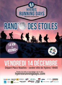 Randonnée la-rando-des-etoiles hyères running days 2018 #HRD18